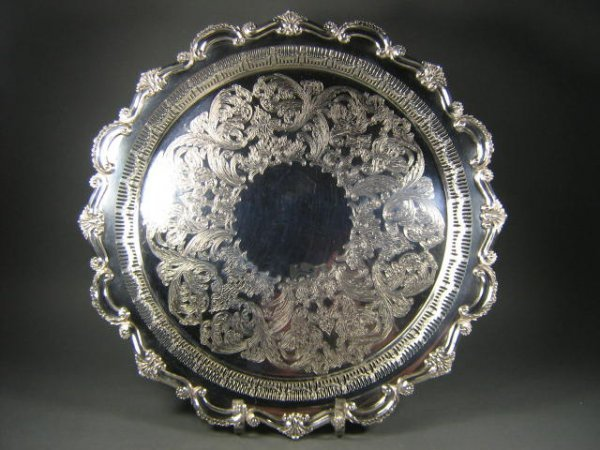 82: Sheffield International Silver Co. Tray