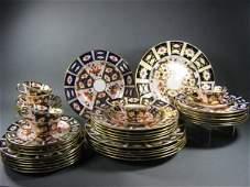 96: Royal Crown Derby Imari Dish Set