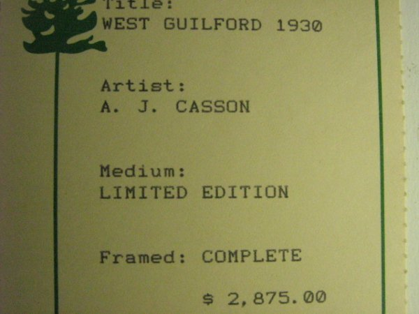 142: A.J. Casson West Guilford Print - 5