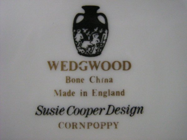 165: Wedgwood Susie Cooper Cornpoppy Dish Set - 6
