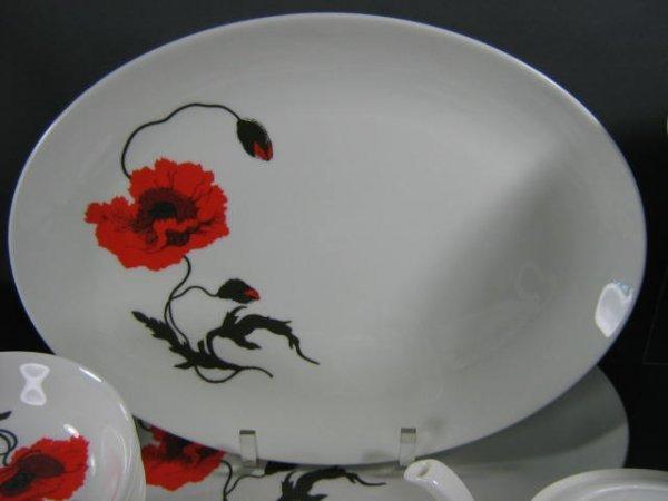 165: Wedgwood Susie Cooper Cornpoppy Dish Set - 7