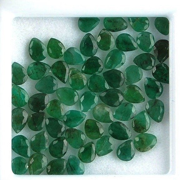 13.70 Cts 54 Pieces Natural Colombian Emerald Gemstones