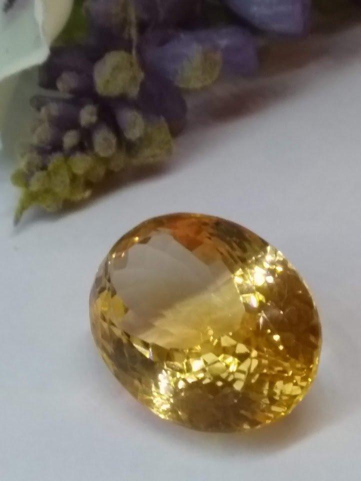 14.71 carat Natural Citrine gemstone