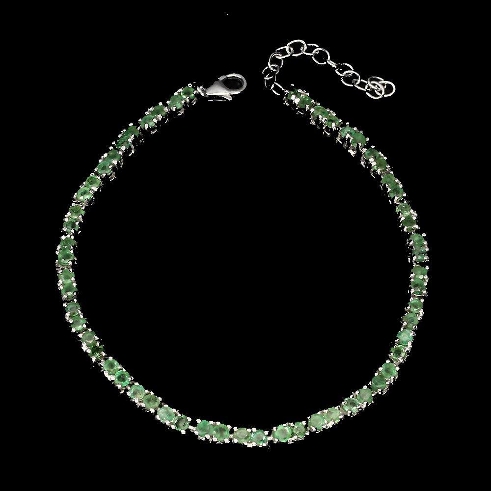 A stunning Natural Brazilian Emerald Bracelet