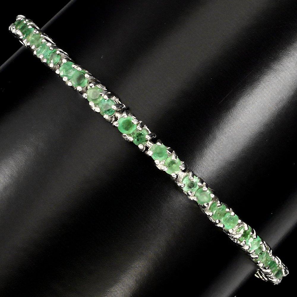 A stunning Natural Brazilian Emerald Bracelet - 2