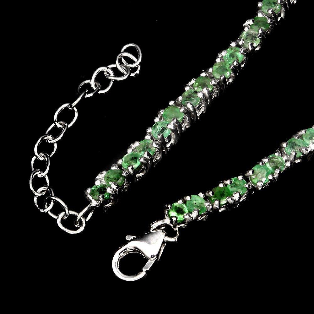 A stunning Natural Brazilian Emerald Bracelet - 3