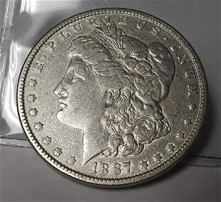 1887 US Morgan Silver Dollar