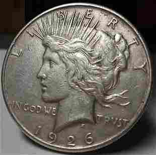 1926 S US Silver Peace Dollar