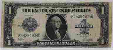1923 Large US Silver Certificate 1 Note