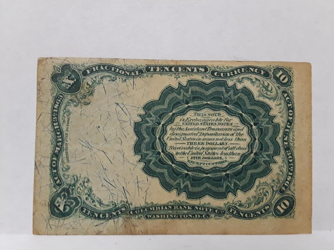 1849 10 Cent Us Fractional Currency Note - 2