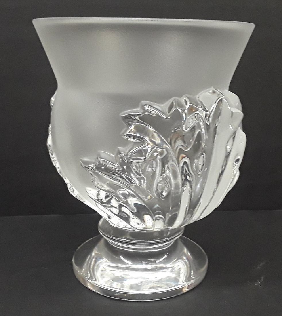 Vintage Lalique Crystal Acanthus Vase