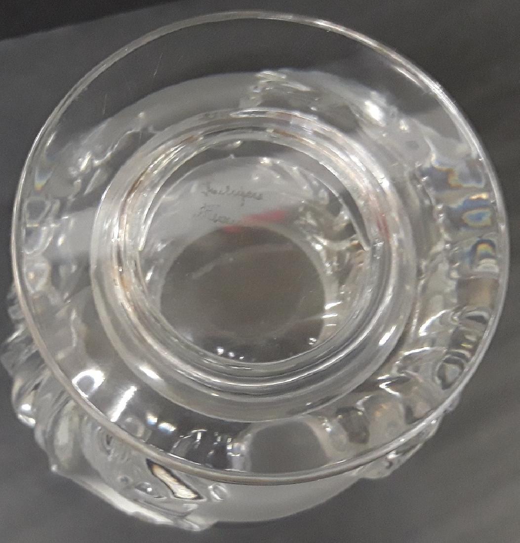 Vintage Lalique Crystal Acanthus Vase - 3