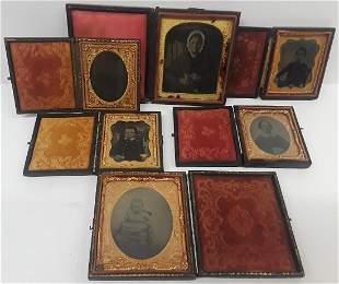 Lot of 6 Pre Civil War Era Cased Tin Types
