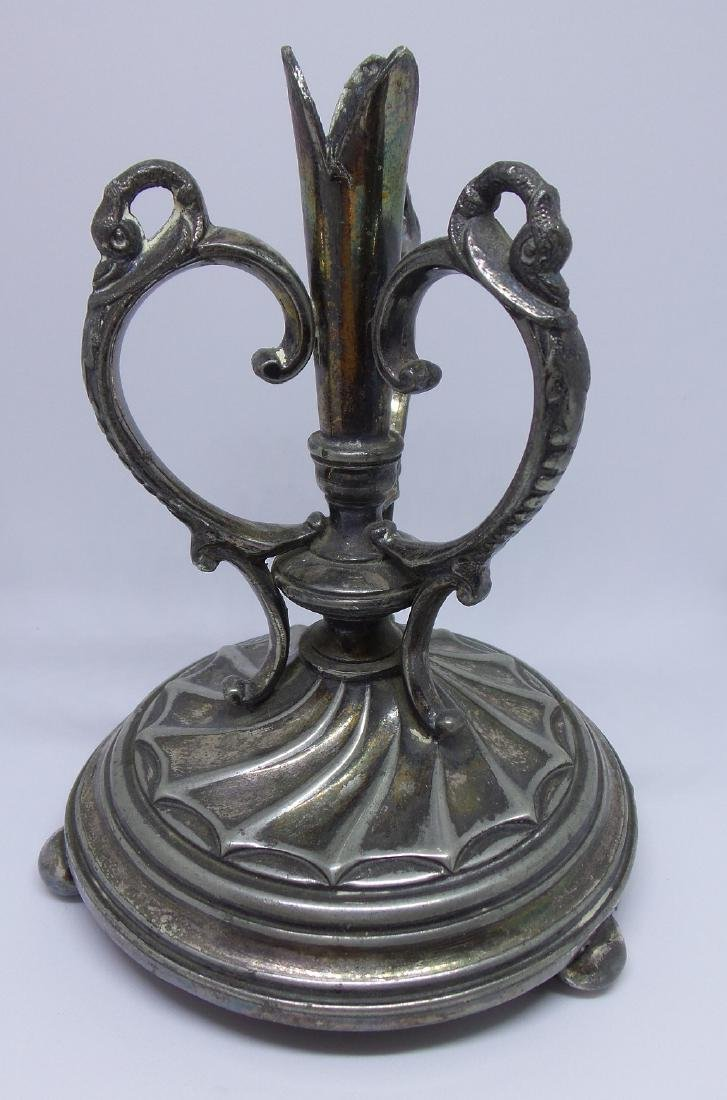 Antique Dixon Silverplate Candle Holder