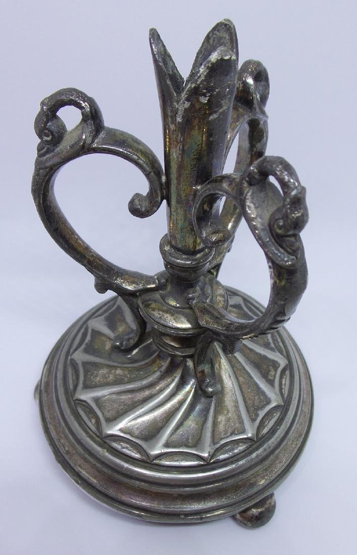 Antique Dixon Silverplate Candle Holder - 2
