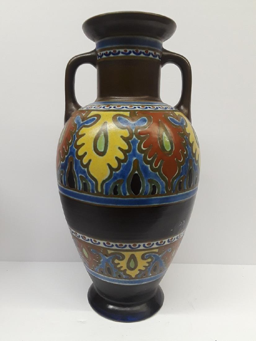 Large Mid Century Emmy Gouda Pottery Vase