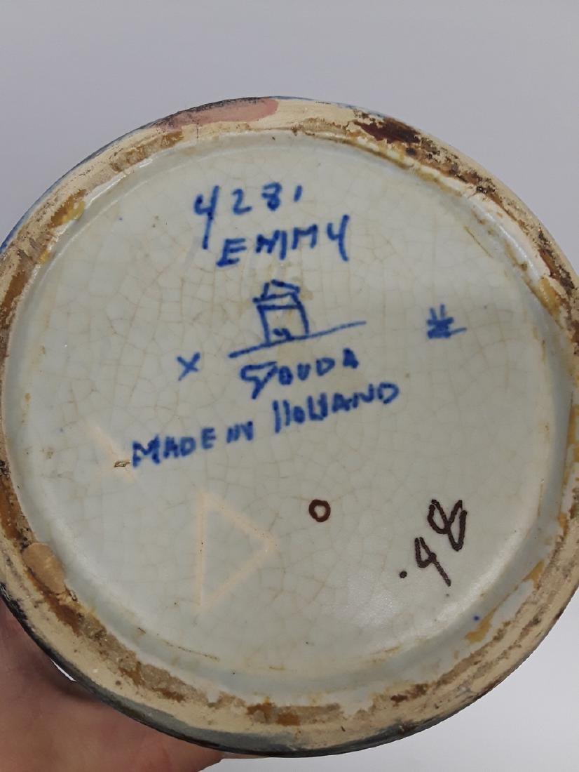 Large Mid Century Emmy Gouda Pottery Vase - 3