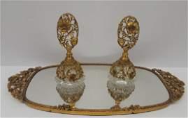 Vintage Matson Signed Ormolu Vanity Tray Perfume