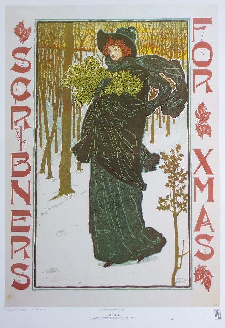 "Antique Advertising Art Print ""SCRIBNER'S FOR X-MAS"""