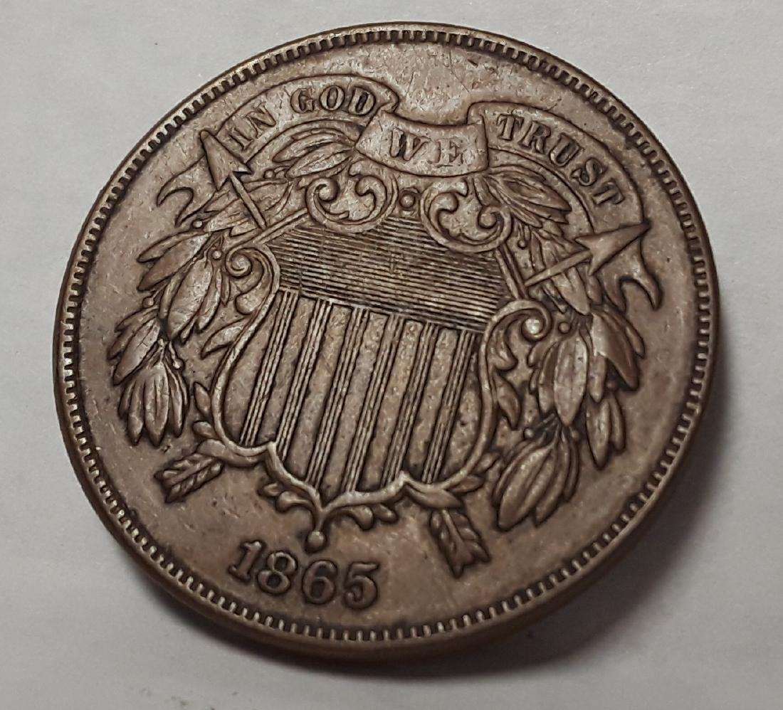 1865 Civil War Era Two Cent Piece