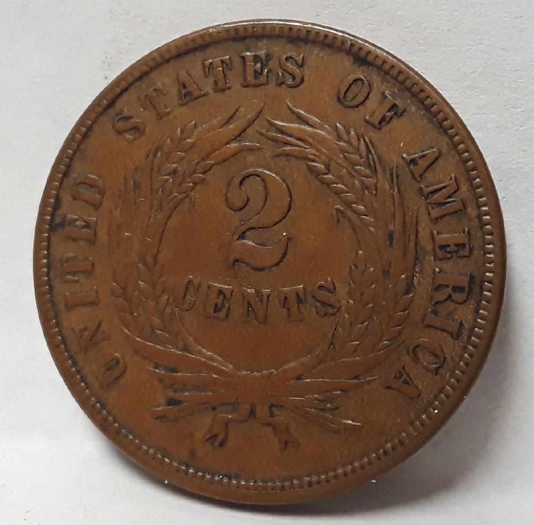 1865 Civil War Era Two Cent Piece - 2
