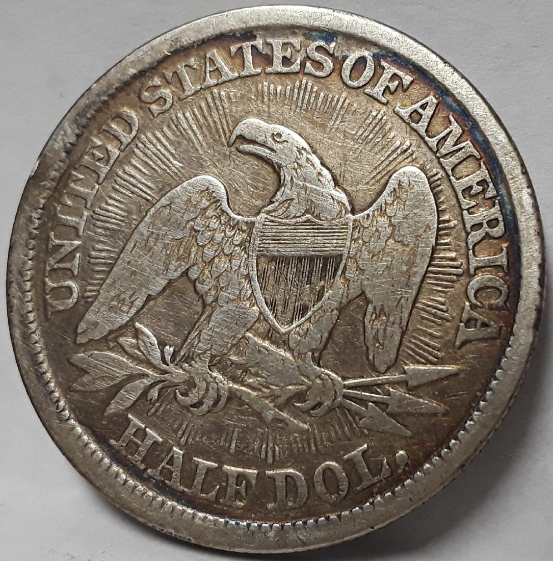 1853 Seated Liberty US Silver Half Dollar - 2