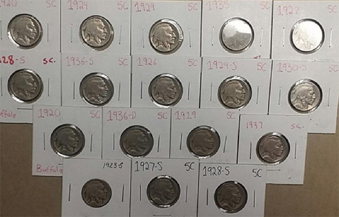Lot of Full Date Buffalo Nickles