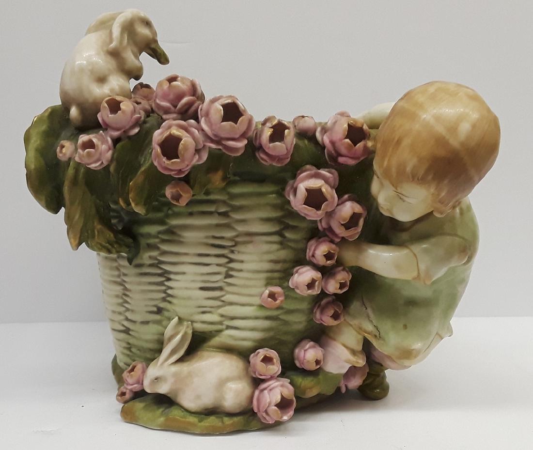 Antique Austiran Amphora Porcelain Planter