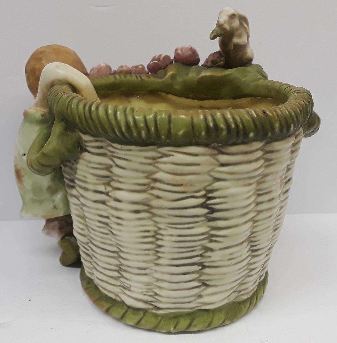 Antique Austiran Amphora Porcelain Planter - 3