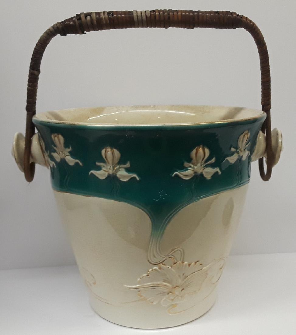 Antique Large French Art Nouveau Porcelain Ice Bucket