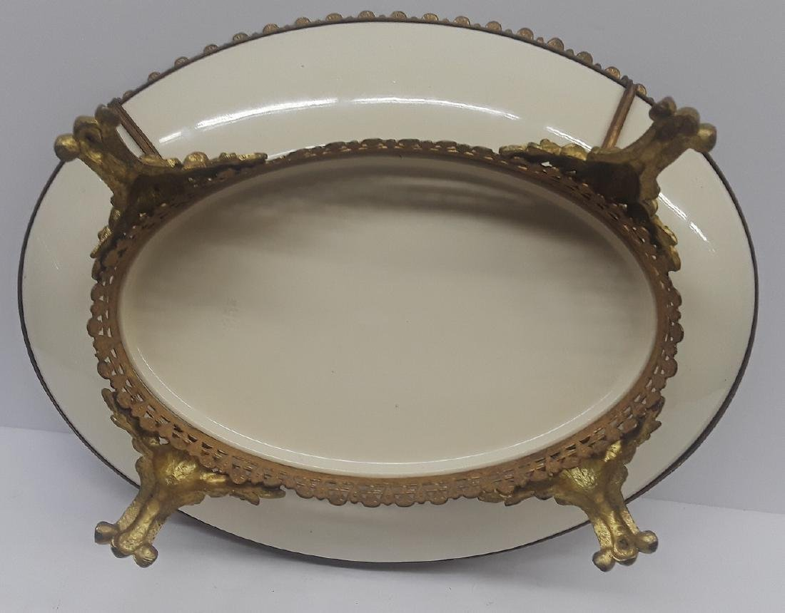 19th Century French Bronze & Porcelain Center Piece - 3