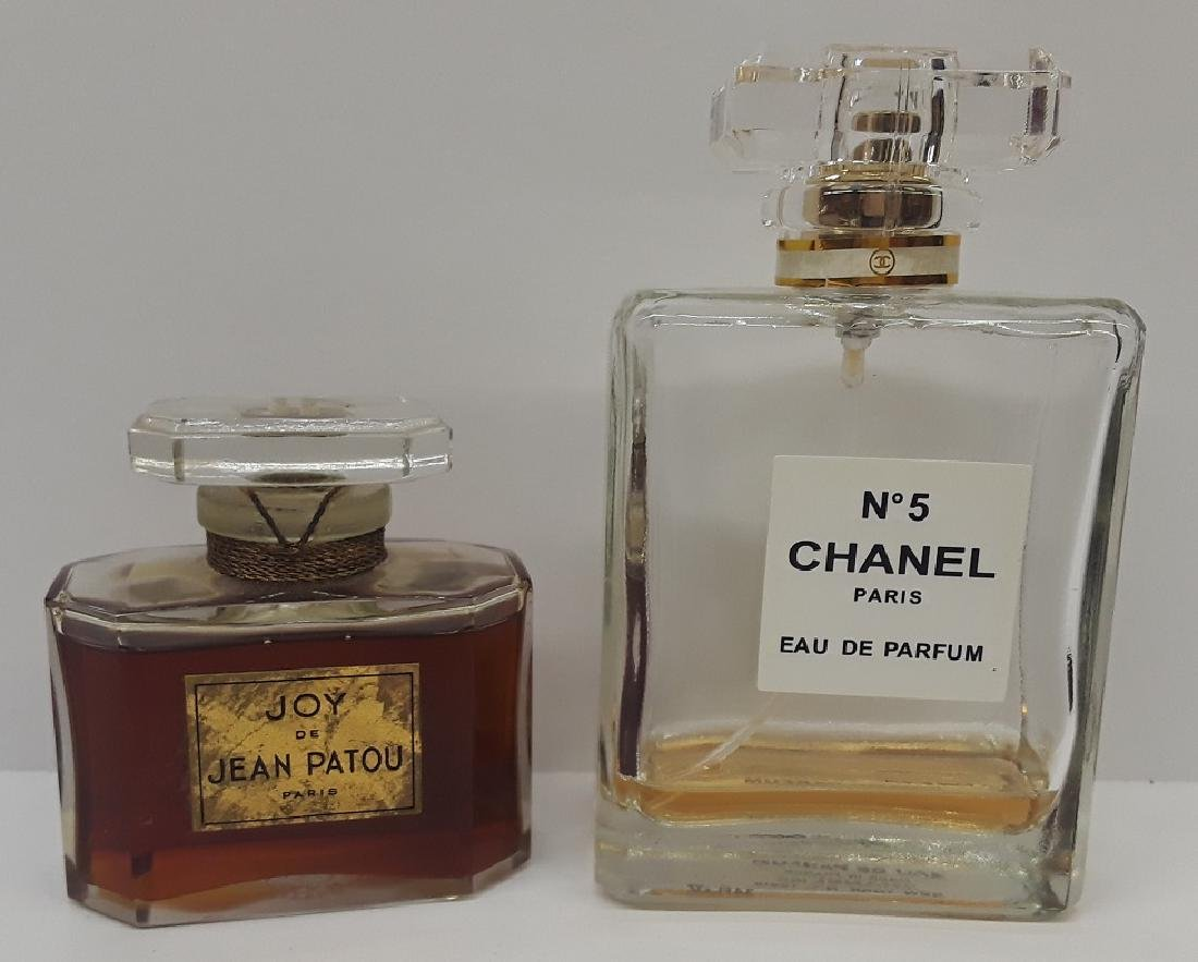 Lot of 2 Vintage French Perfume Bottles