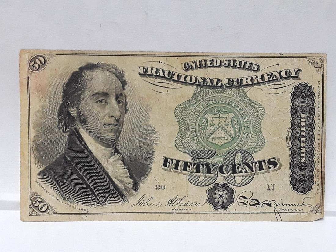 1873 Sam Dexter 50 Cent Fractional Currency Note