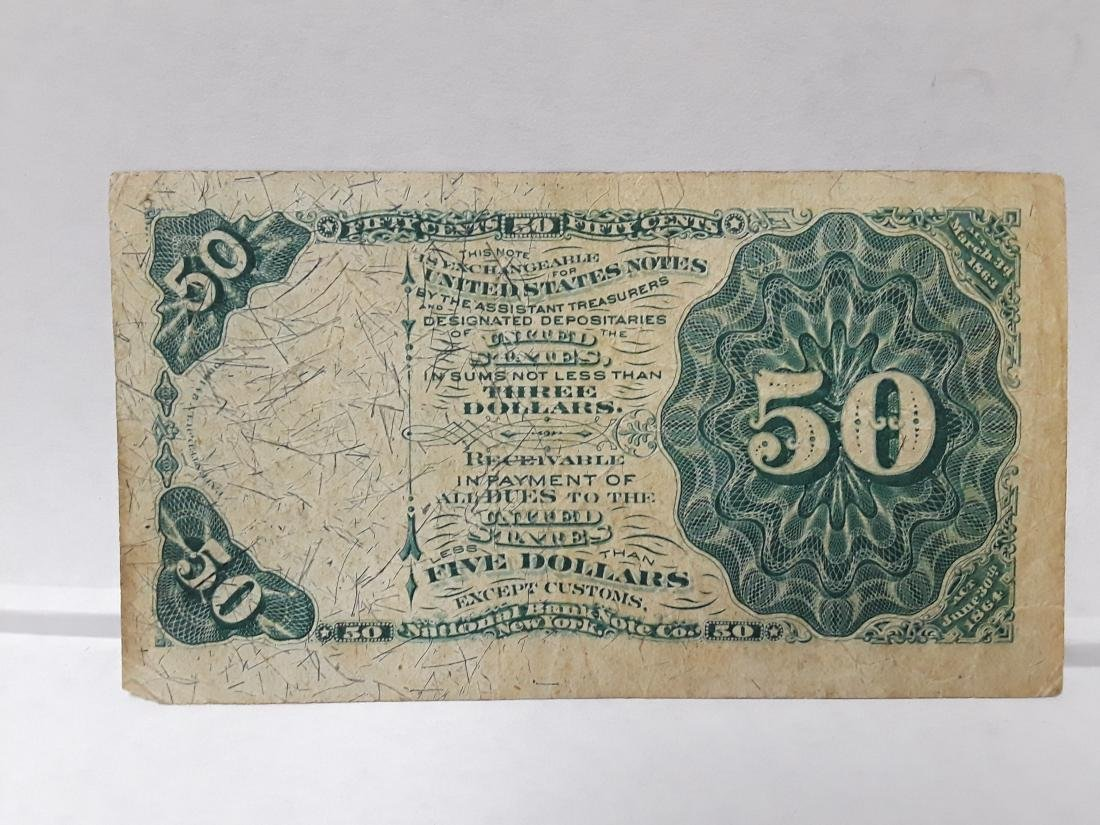 1873 Sam Dexter 50 Cent Fractional Currency Note - 2
