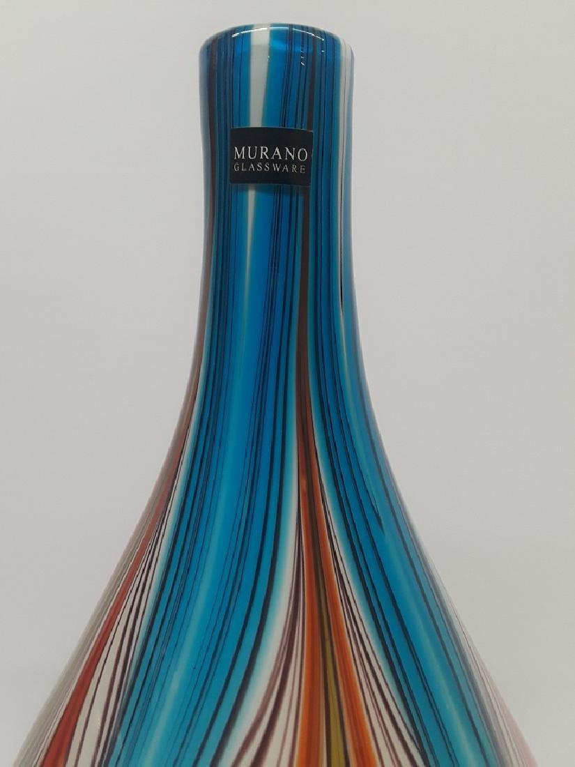 Beautiful Murano Glass Multi Colored Bulbous Vase - 2