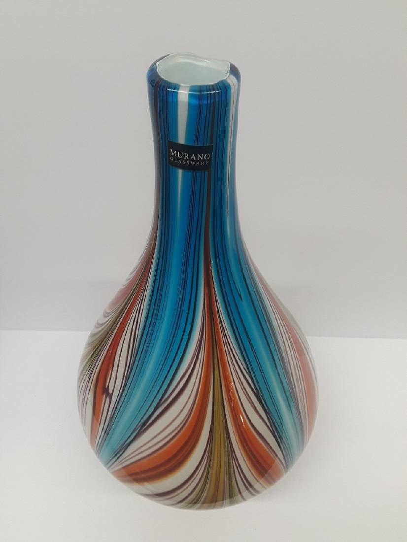 Beautiful Murano Glass Multi Colored Bulbous Vase - 3