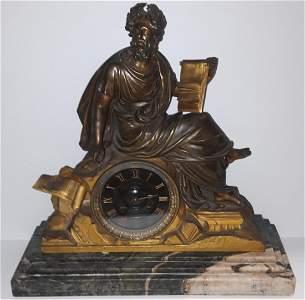 19th Century Dore Bronze Mantle Clock