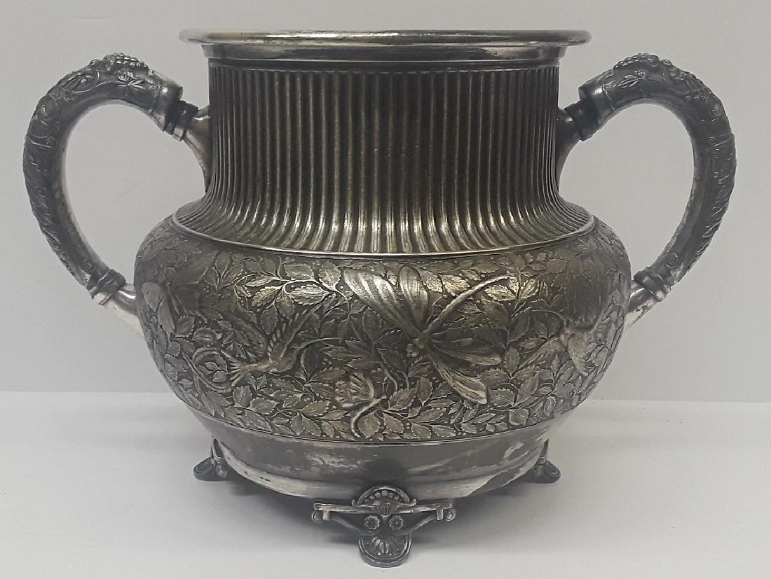 Antique Meriden Silverplate Floral Planter