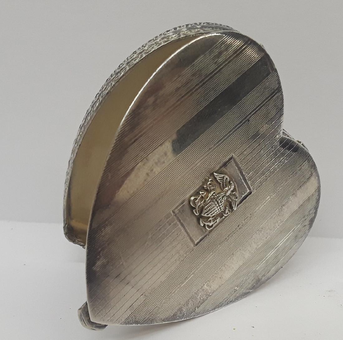 WW2 Era Sterling Silver Sweetheart Box