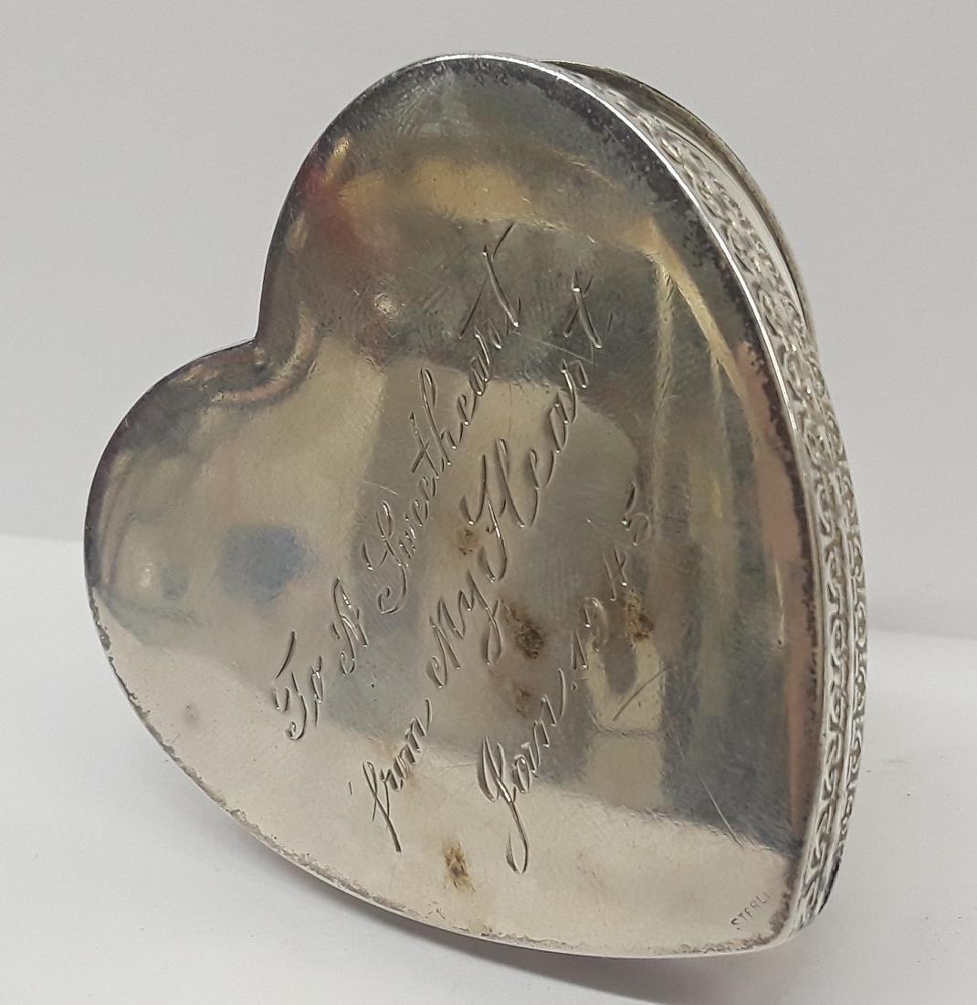 WW2 Era Sterling Silver Sweetheart Box - 2