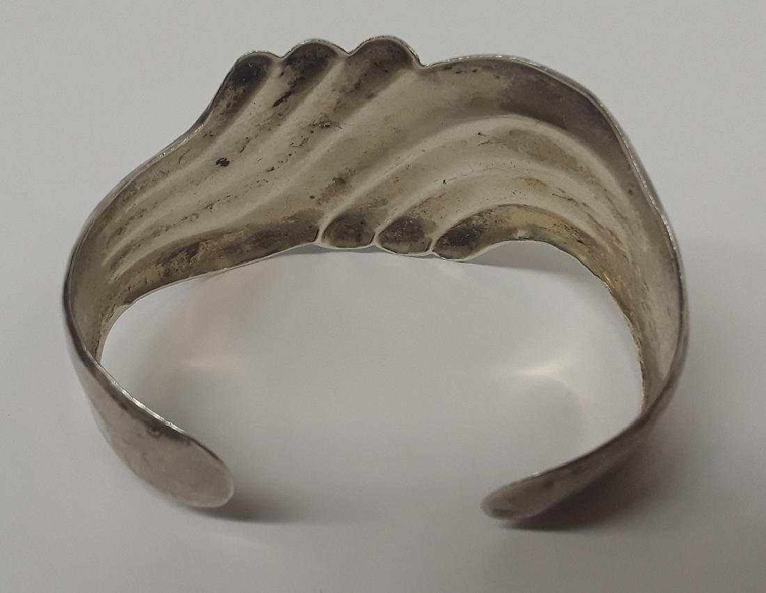 Vintage Large Sterling Silver Cuff Bracelet - 2