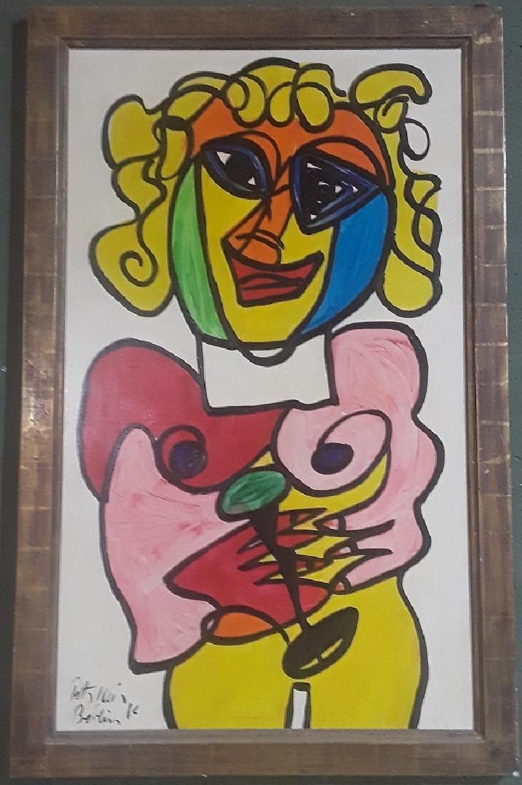 Large Vintage Peter Keil Original Painting