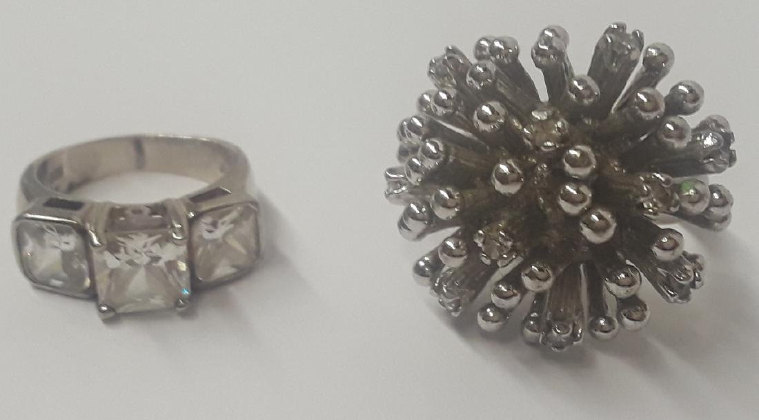 Lot of 2  Large Sterling Silver Rings