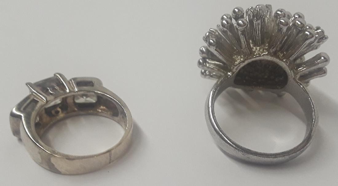 Lot of 2  Large Sterling Silver Rings - 2