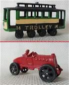 Lot of 2 Vintage Cast Iron Toys