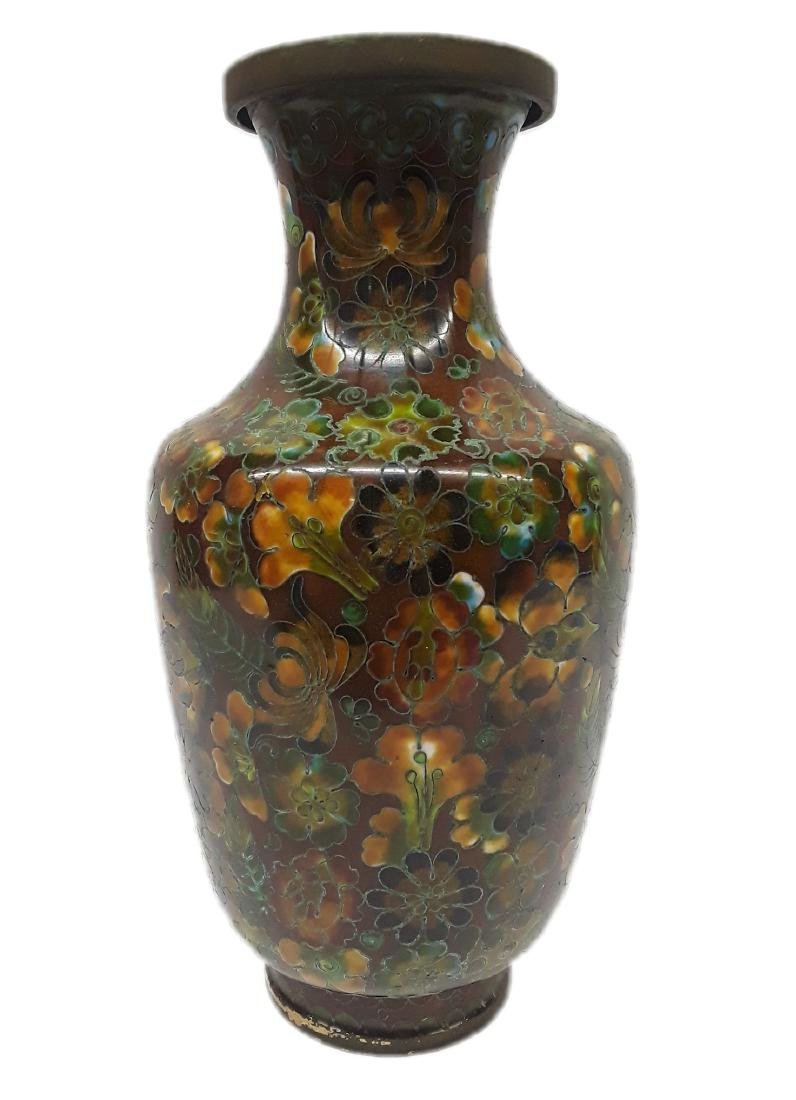 Vintage 20th Century Chinese Cloisonne Enamel Vase