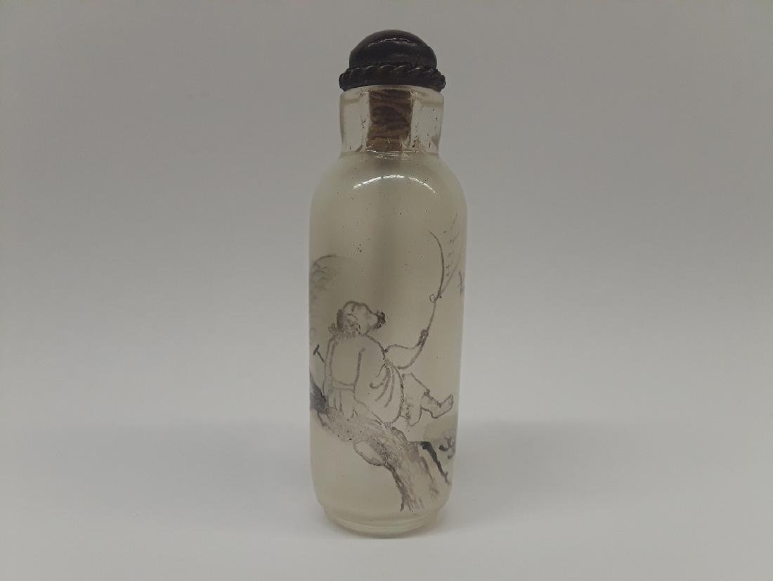 Antique Reverse Painted Signed Snuff Bottle