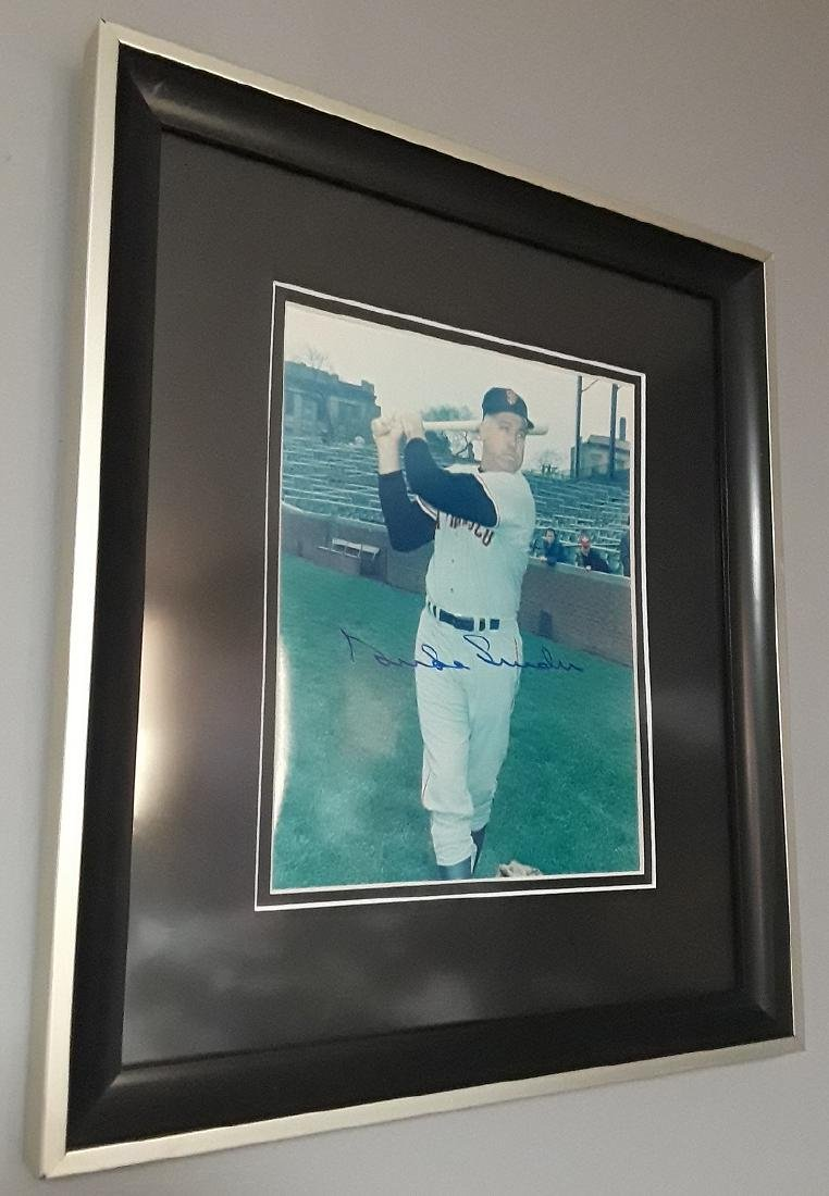 Duke Snider Autographed Framed Photo