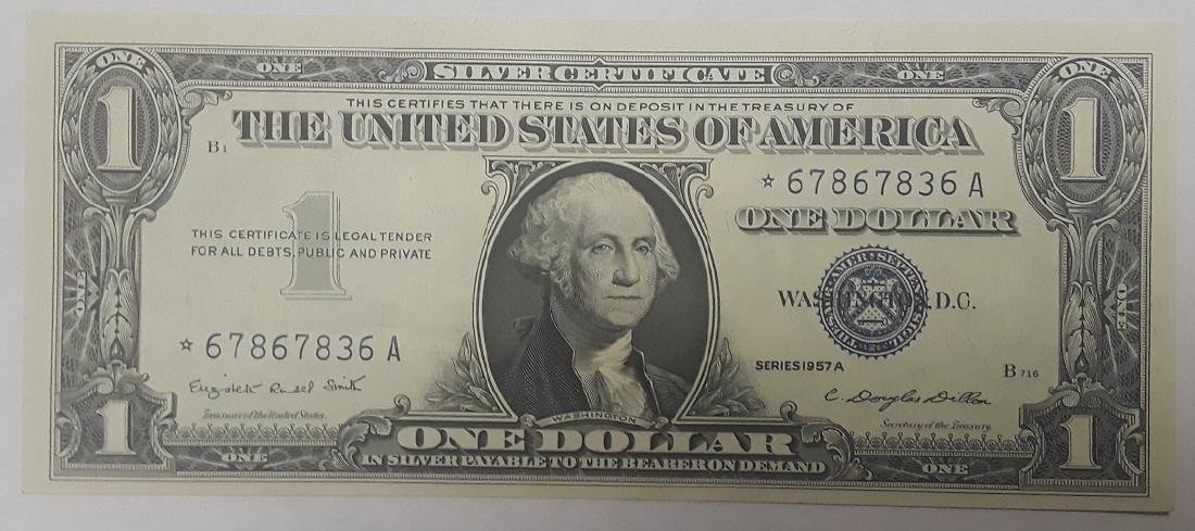 1957 Uncirculated Silver Certificate $1 Star Note