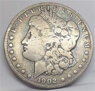 1902 US Morgan Silver Dollar